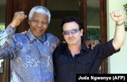 Боно и Нельсон Мандела