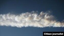 Россия - След от метеорита, Челябинск, 15 февраля 2013 г.