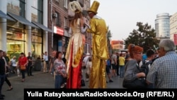 Even the clowns on stilts didn't look out of place at a recent Mikheil Saakashvili rally in Dnipro, Ukraine.