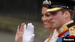 Foto nga martesa e çiftit mbretëror.