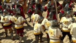 Nations Cross Swords At Medieval Battle