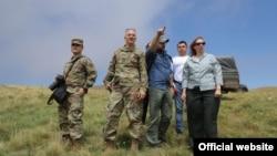 Armenia - U.S. Ambassador Lynne Tracy (R) visits an Armenian-Azerbaijani border area in Gegharkunik province, July 26,2021.