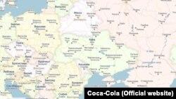 Карта с российским Крымом (иллюстративное фото).