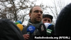Tymoshenko lawyer Serhiy Vlasenko during a January visit to the Kharkov prison