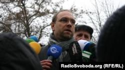 Tymoshenko lawyer Serhiy Vlasenko during a January visit to the Kharkov prison