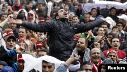 Пратэстоўцы на плошчы Тахрыр у Каіры