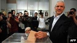 Boris Tadić glasa na predsedničkim izborima, 20. maj 2012.
