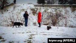Сніг у Севастополі, 27 лютого 2018 року