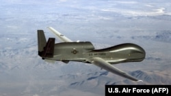 U.S. Central Command said that an RQ-4A Global Hawk maritime surveillance drone was shot down by an Iranian surface-to-air missile while operating in international airspace over the Strait of Hormuz.