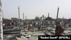 Центральный рынок Фархора после пожара
