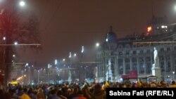 Aproape 100.000 de oameni au demonstrat în 30 ianuarie la București și în alte 22 de orașe din România împotriva ordonanțelor privind grațierea și modificarea Codului Penal