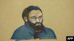 طرحی از چهره شهاب الصغیر، متهم تونسی پرونده