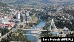 Pamje e një pjese të Podgoricës
