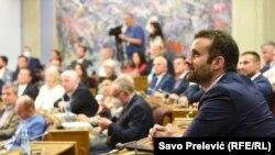 На седницата на парламентот се гласа за разрешување на министерот Влаадимир Лепосавиќ, Подгорица - 17 јуни 2021 година.
