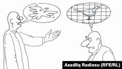 Rəşid Şerifin karikaturası.