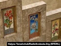 Збережена мозаїка на сходах