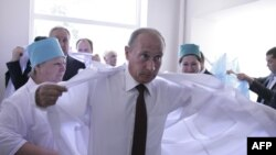 Владимир Путин посещает больницу