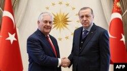 Recep Tayyip Erdogan və Rex Tillerson