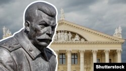 Belarus - Stalin monument without title, 25Oct2018