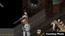 "A screen grab from the video game ""The Cat and the Coup"""