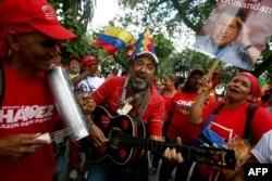 """Один из последних митингов """"чавистов"""" в Каракасе, 18 февраля 2013 года"""