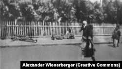 Померлі від голоду на вулицях Харкова, 1933 рік, архівне фото
