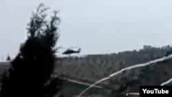 Вертолет турецкой армии был сбит сирийскими курдскими бойцами возле города Африн на севере Сирии