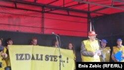 Prosvjed sindikata osnovnog i srednjeg školstva, znanosti i medicinskih sestara