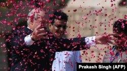 Аляксандар Лукашэнка падчас візыту ў Індыю, 12 верасьня 2017 году