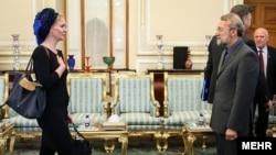 ماريچه اسخاکه، نماينده هلند در پارلمان اروپا در دیدار با علی لاریجانی، رئیس مجلس ایران