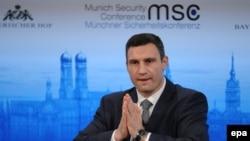 Віталій Кличко під час дискусії в рамках Міжнародної конференції з безпеки в Мюнхені. 1 лютого 2014 року