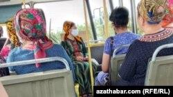 Общественный транспорт Ашхабада, июль, 2020