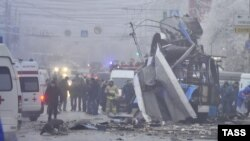 После взрыва 30 декабря от троллейбуса остался только остов
