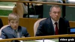 Николай Лукашенко на заседании Генассамблеи ООН