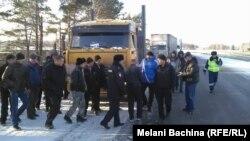 Протест томских дальнобойщиков 11 ноября 2015 года.