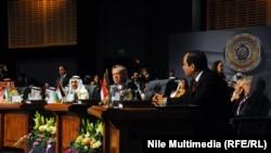 الملك عبد الله الثاني في القمة العربية في شرم الشيخ، 28 آذار 2015.