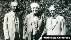 Thomas Edison amerikalı zəngin iş adamları Henry Ford və Harvey Firestone ilə birlikdə.