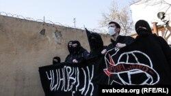 Анархісты на акцыі 5 сакавіка ў Берасьці