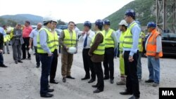 Градежни работи на патот Демир Капија - Смоквица, дел од автопатот Александар Велики.