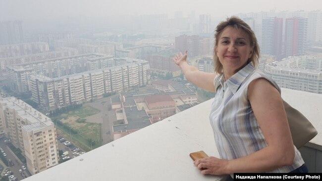 Жительница Красноярска сделала фото задымленного города