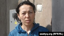 Замира Исмаилова, владелица земельного участка в микрорайоне Северные Дачи города Шымкента. 26 марта 2014 года.