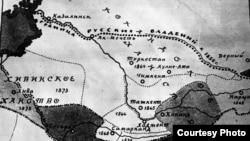 Падышалык аскерлердин илгерилөө багыттары. Карта.