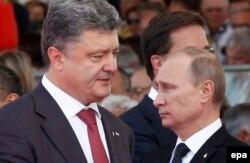 پوروشنکو (چپ) و پوتین (راست) تلفنی گفتوگو کردهاند