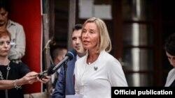 Глава внешнеполитического ведомства ЕС Фредерика Могерини. Архивное фото.
