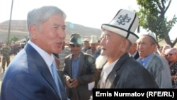 "Kyrgyz President Almazbek Atambaev (left) has pledged to leave politics once his current term ends. His office said that ""the president plans to be engaged in creative activities,"" including writing books, once he steps down."