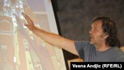 Emir Kusturica prezentuje projekat Andrićgrada, juni 2011.