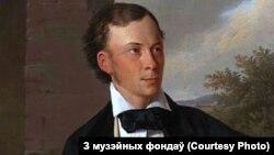 Фрагмэнт партрэту Ўладзіслава Сыракомлі. Аўтар Адам Шэмеш, 1854 год