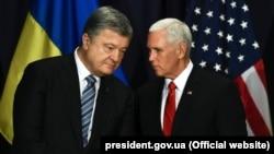 Петро Порошенко та Майк Пенс