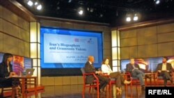 RFE/RL's Golnaz Esfandiari moderates a forum about the Iranian blogosphere at George Washington University in Washington, D.C., April 12, 2010.