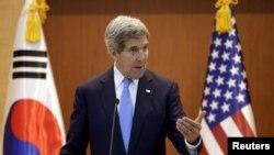 John Kerry në konferencën e sotme për shtyp në Seul të Korresë Jugore